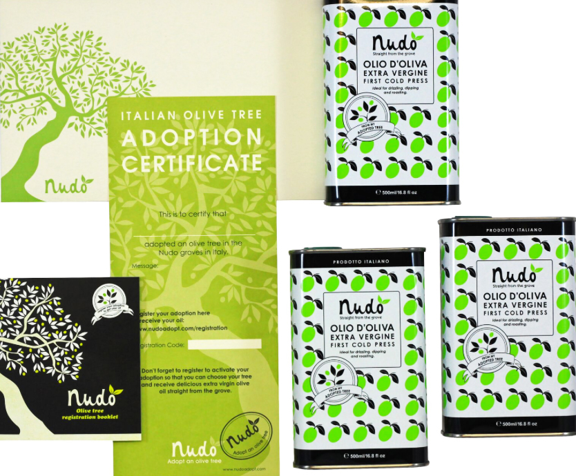 Adopt an olive tree, a great gift for foodies from Nudo, from £39. www.nudoadopt.com
