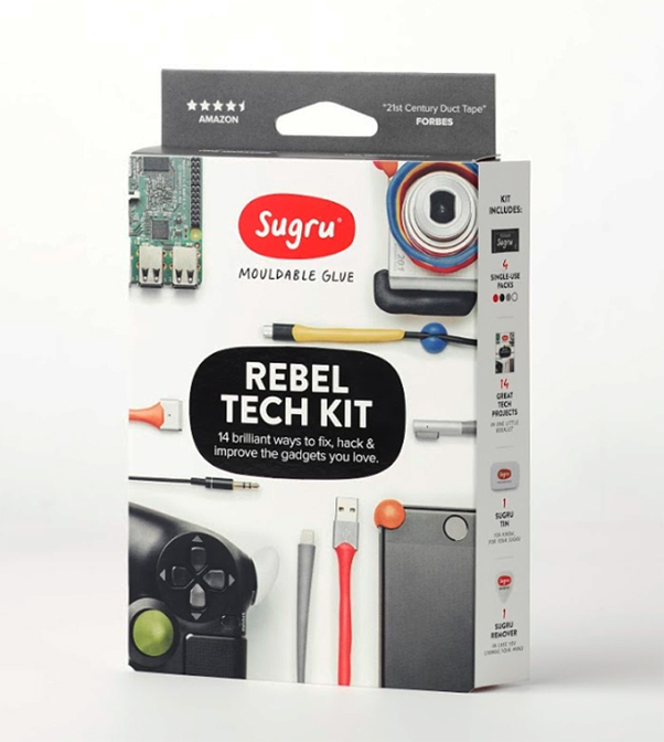 Sugru Rebel Tech Kit gives you the means to keep your tech in good nick, £10, www.sugru.com