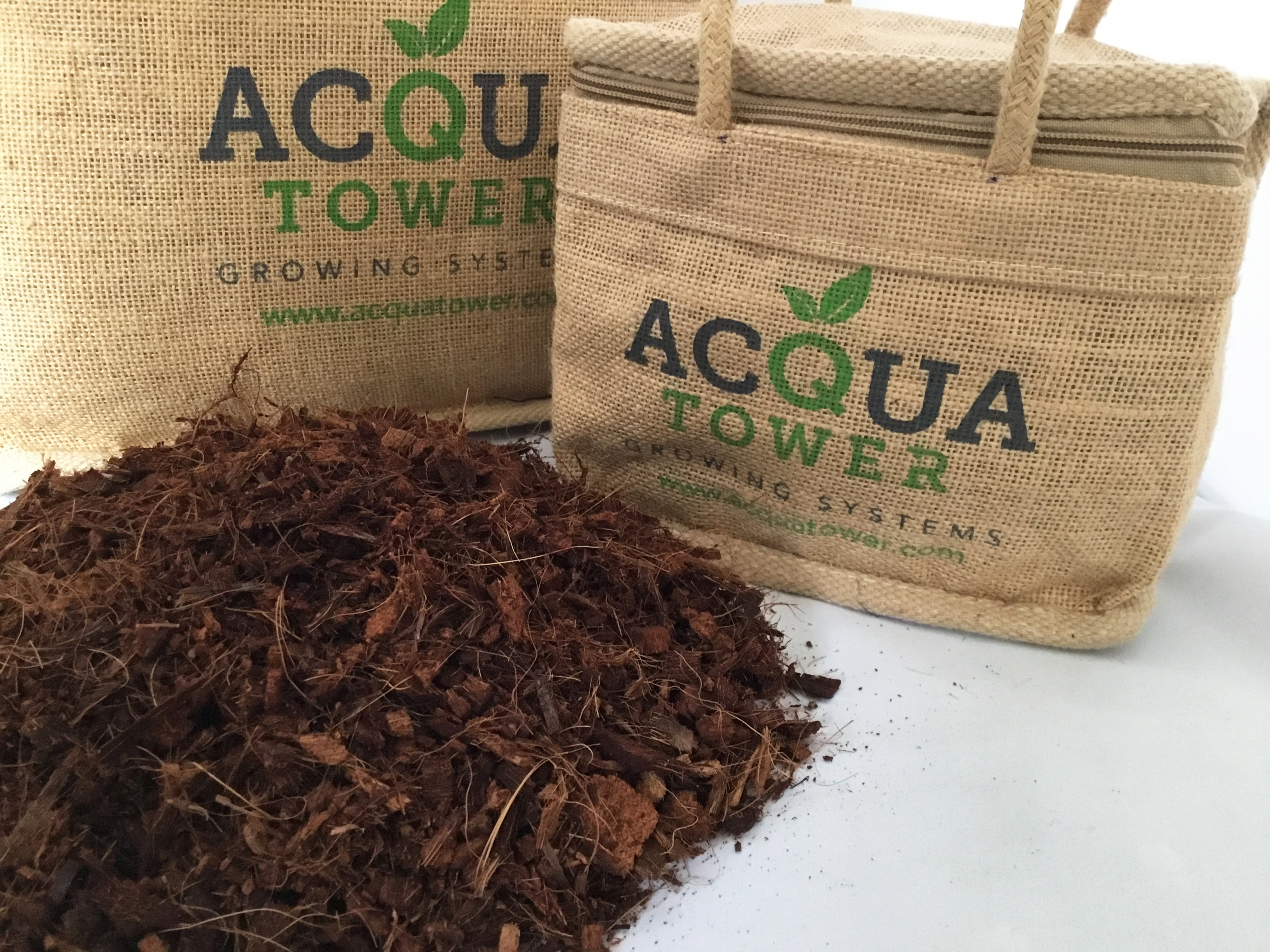 Grow your plants in a coir medium that comes with Acqua Tower