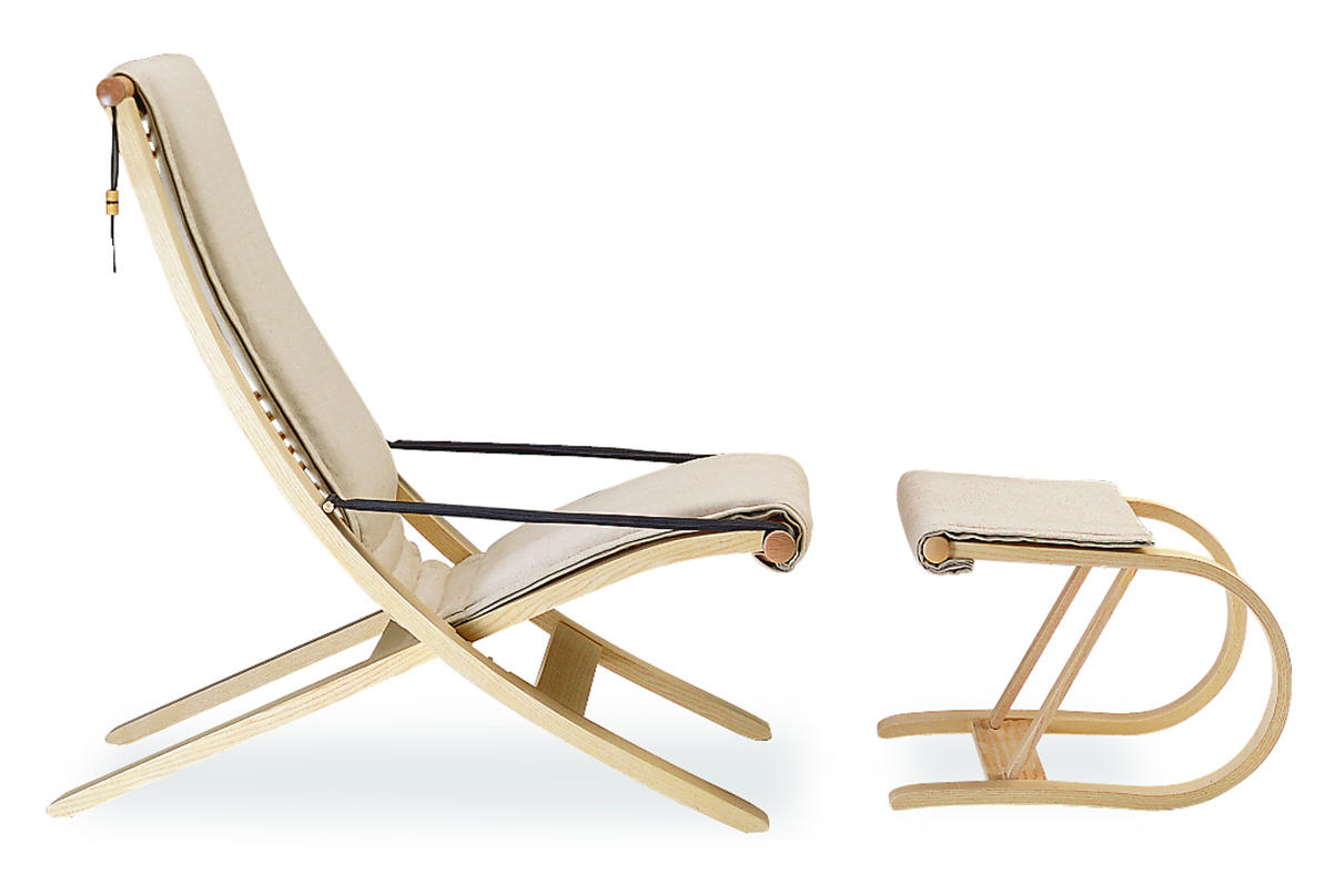 C1 steam bent ash recliner and footstool by David Colwell, around £1,500 at www.sableandox.co.uk