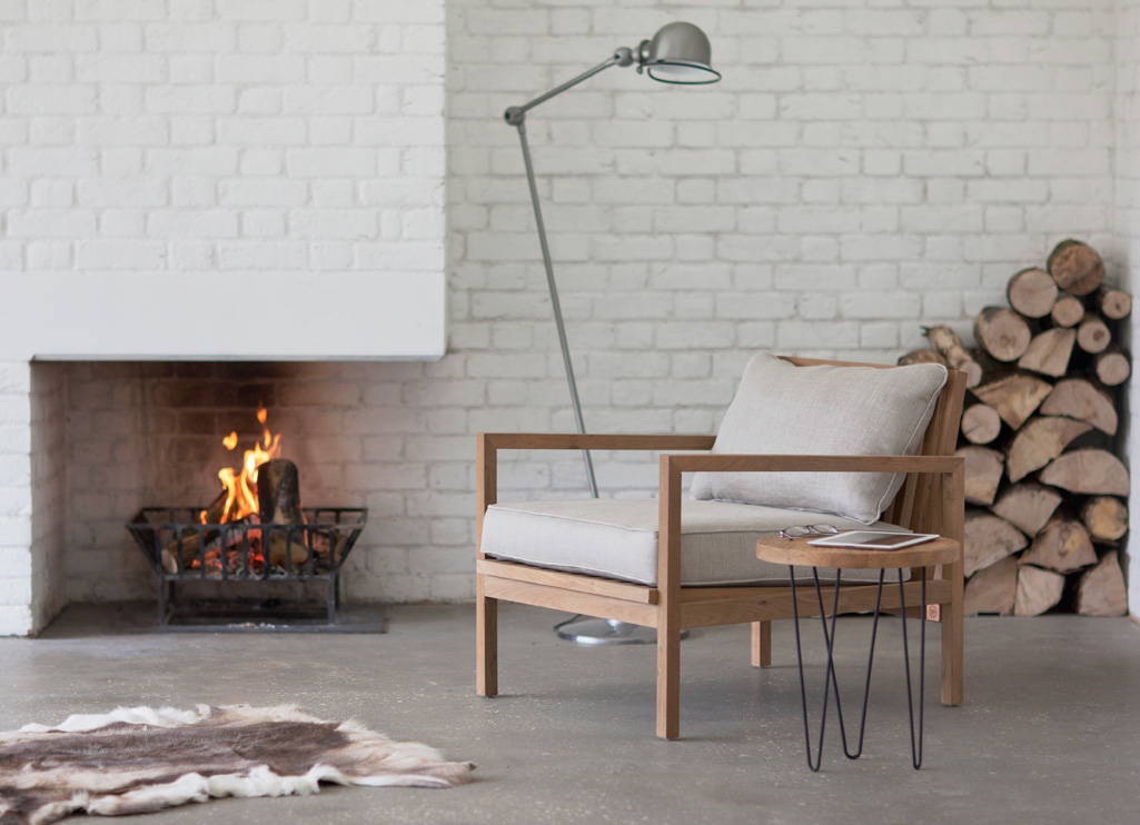 Fair trade J armchair by Trunk is made from reclaimed teak , £385