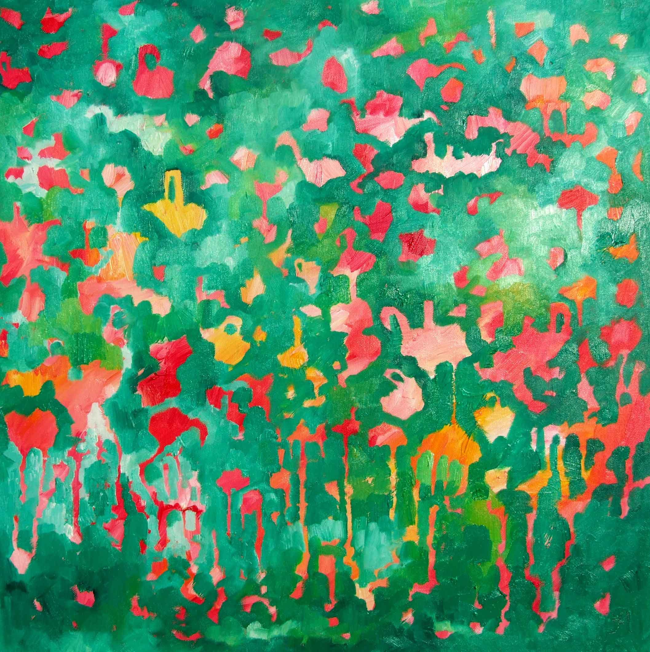Bubble Bath Oil on canvas. 50x50cms