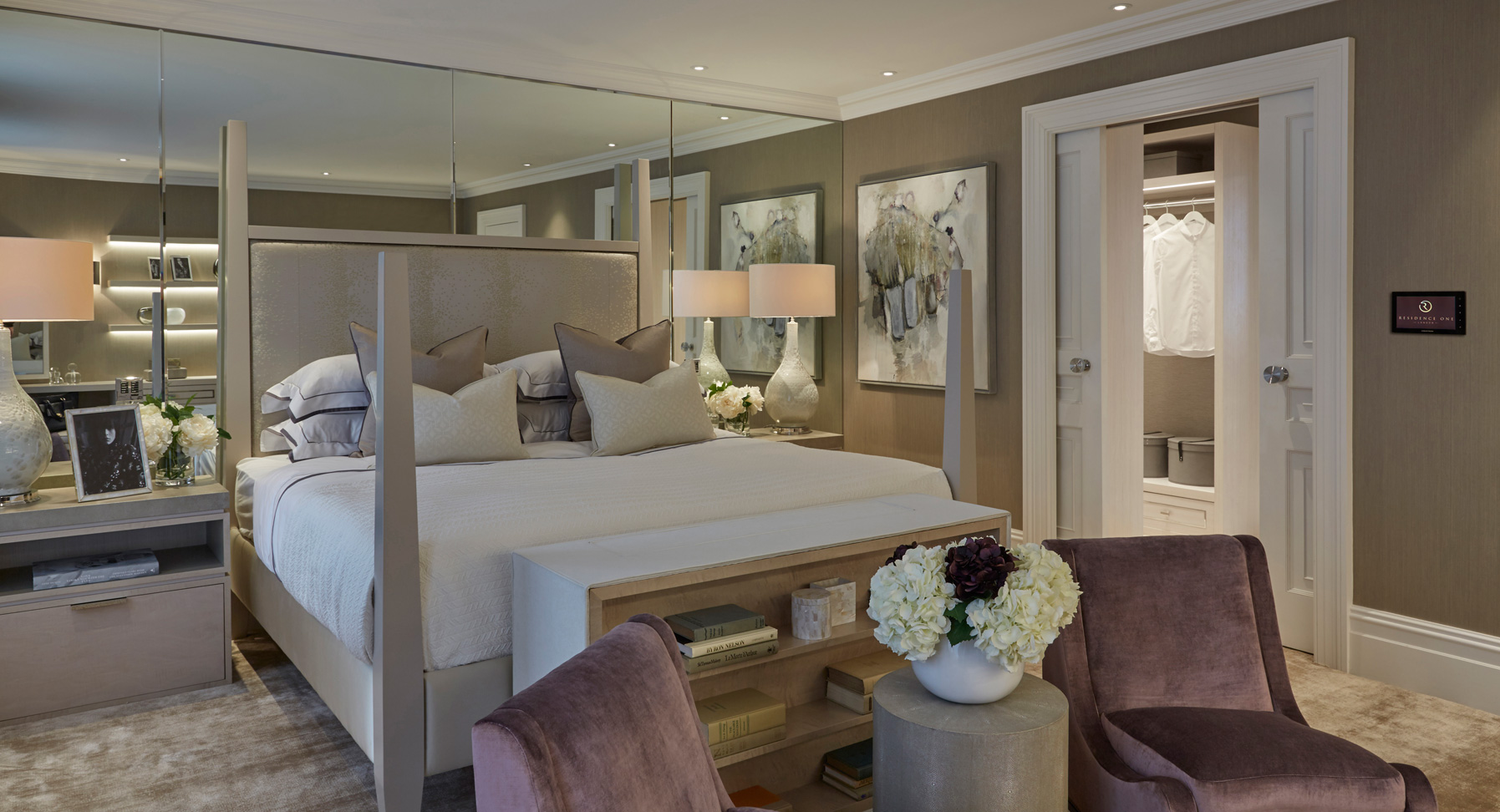 The master bedroom. Furniture is bespoke, and woods used at FSC certified