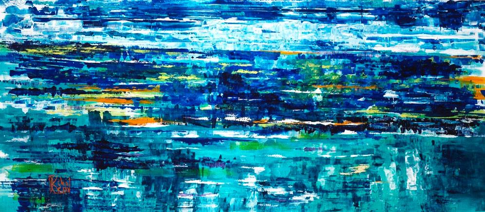 Luminescences, 110x200cms, acrylic on canvas