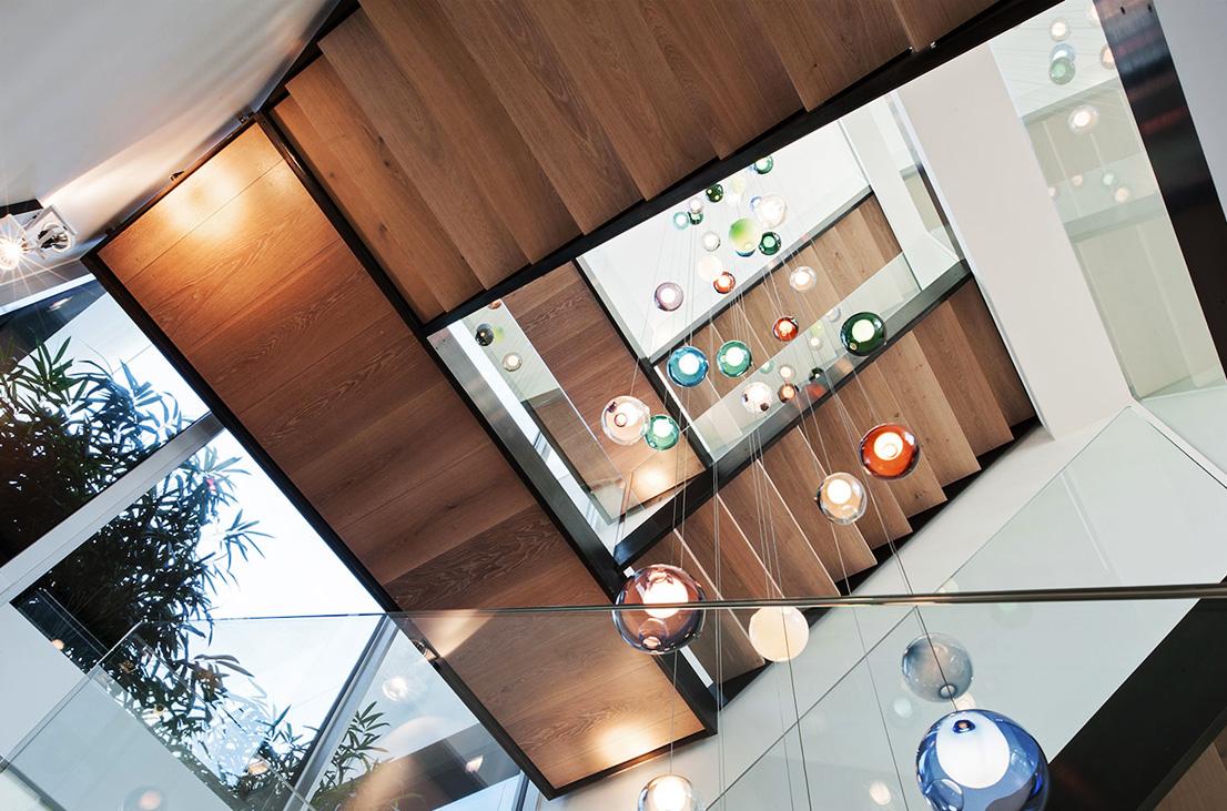 The Bocci light fitting fills the central atrium