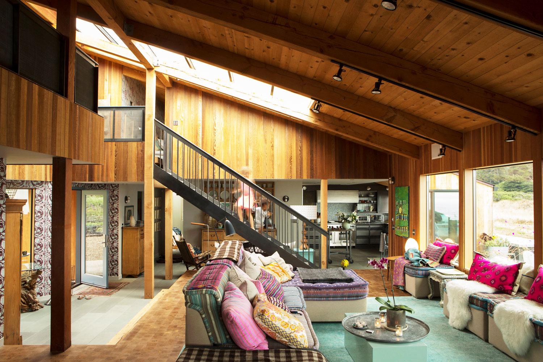 Artist Bonnie Saland has an ocean side house in California