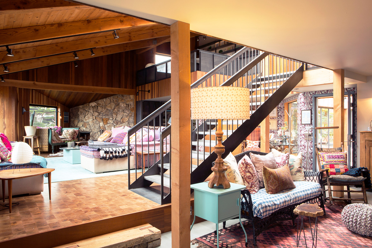 The ground floors are made from reclaimed mesquite wood