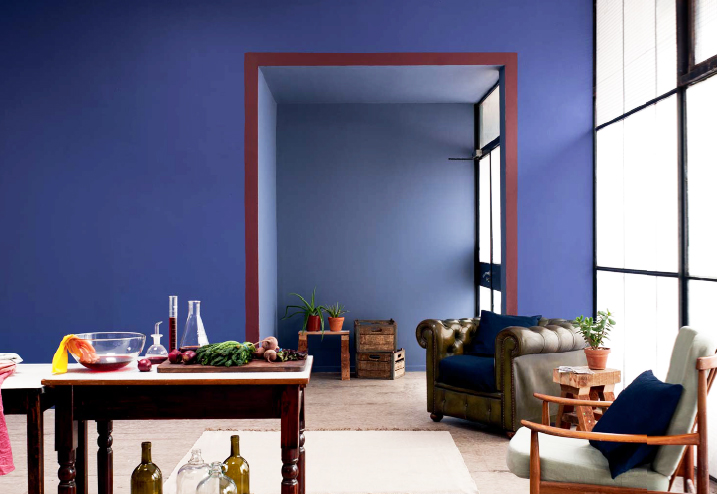 dark paint can be used to achieve cosiness or atmosphere