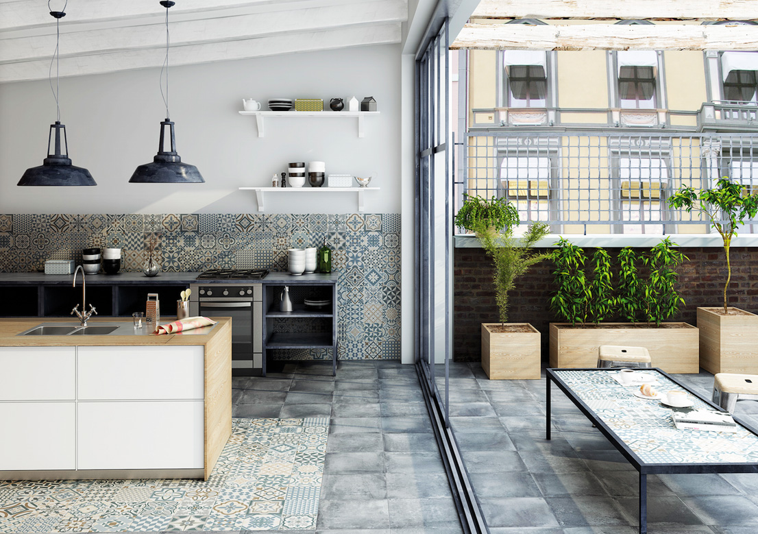 Patterned Tiles For A Mediterranean Style Kitchen Decomag