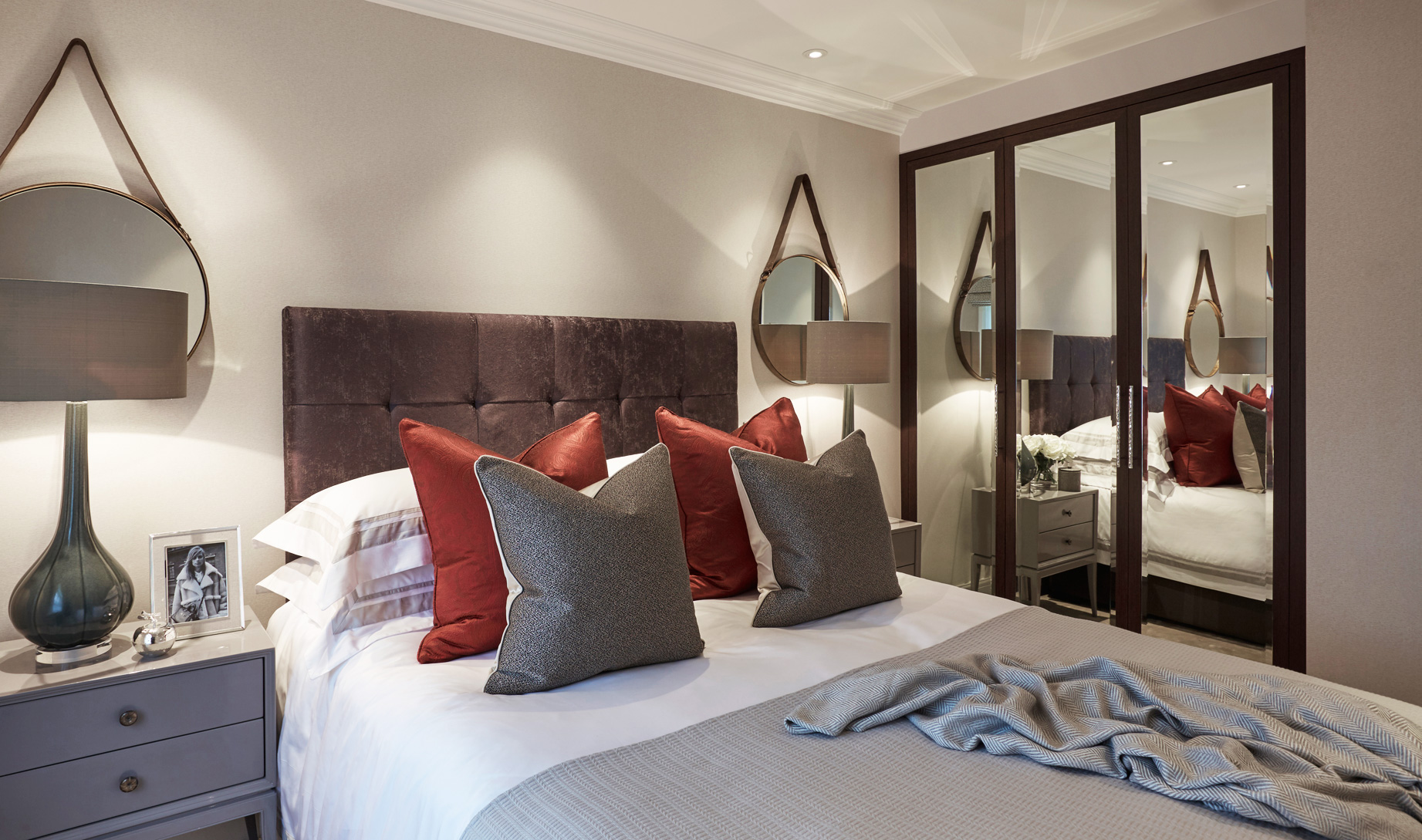 Guest bedroom at Wilton Street. Laura Hammett Design commissions local craftspeople to make the furn