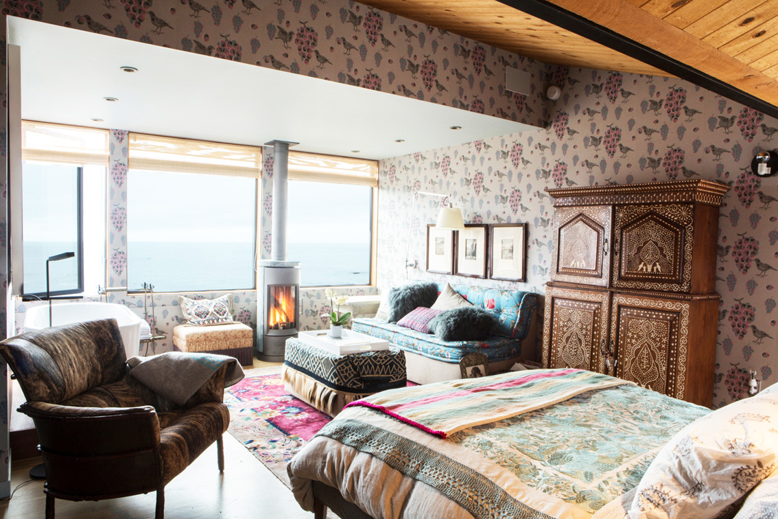 guest bedroom with its views out to sea
