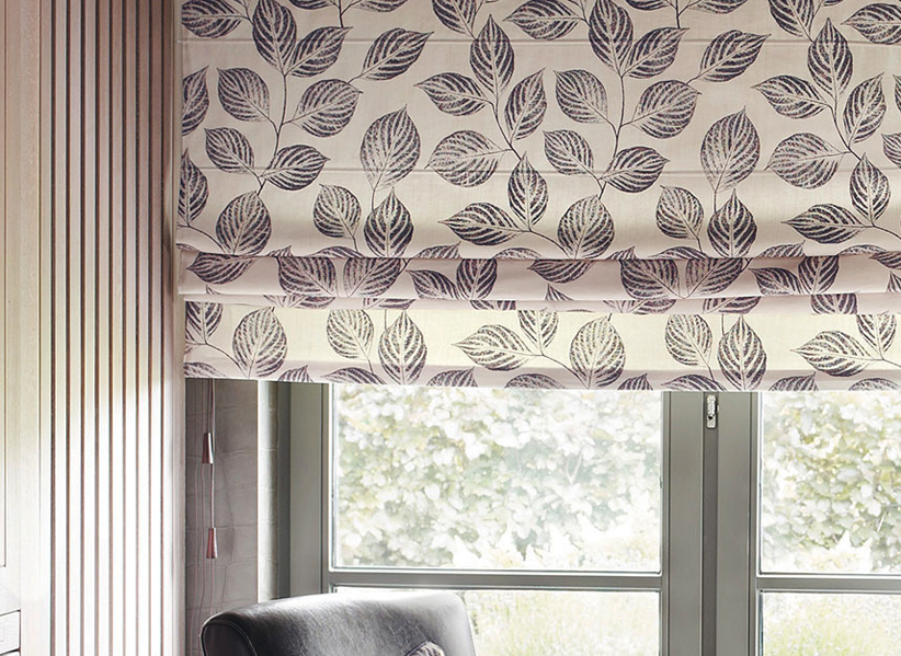 Roman blinds - Choose fabrics suited to a particular room