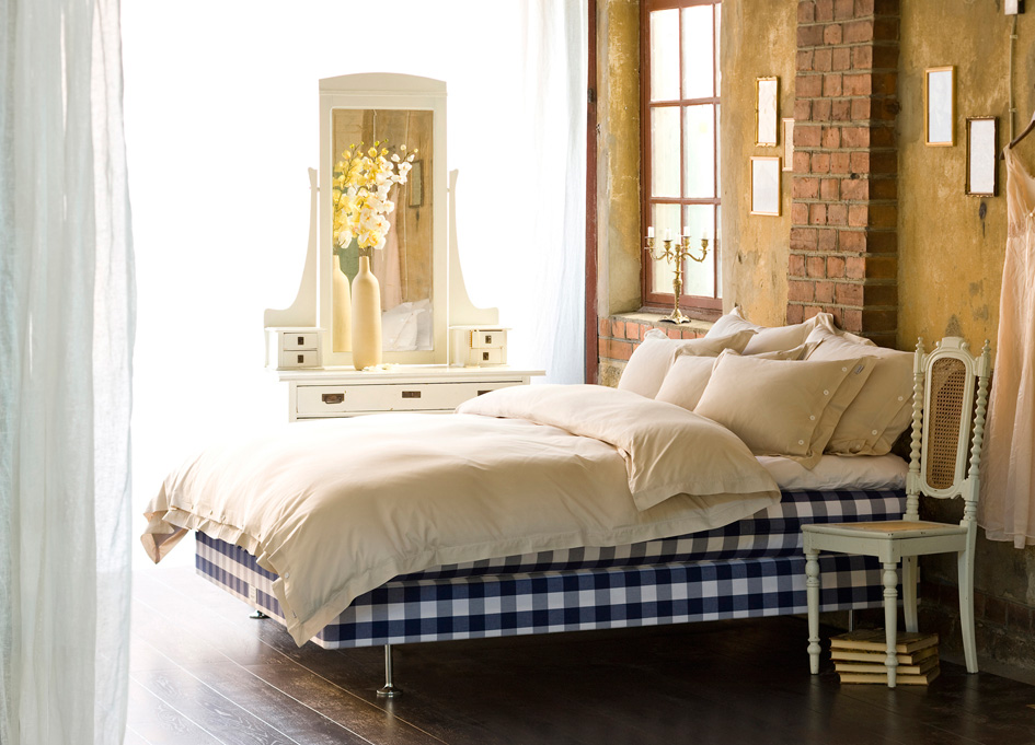 Luxuria natural mattress and base from Sweden's luxury brand Hastens