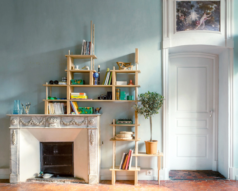Play YET! easy fit modular storage system from France's Smarin. It's made from wood and cork and you