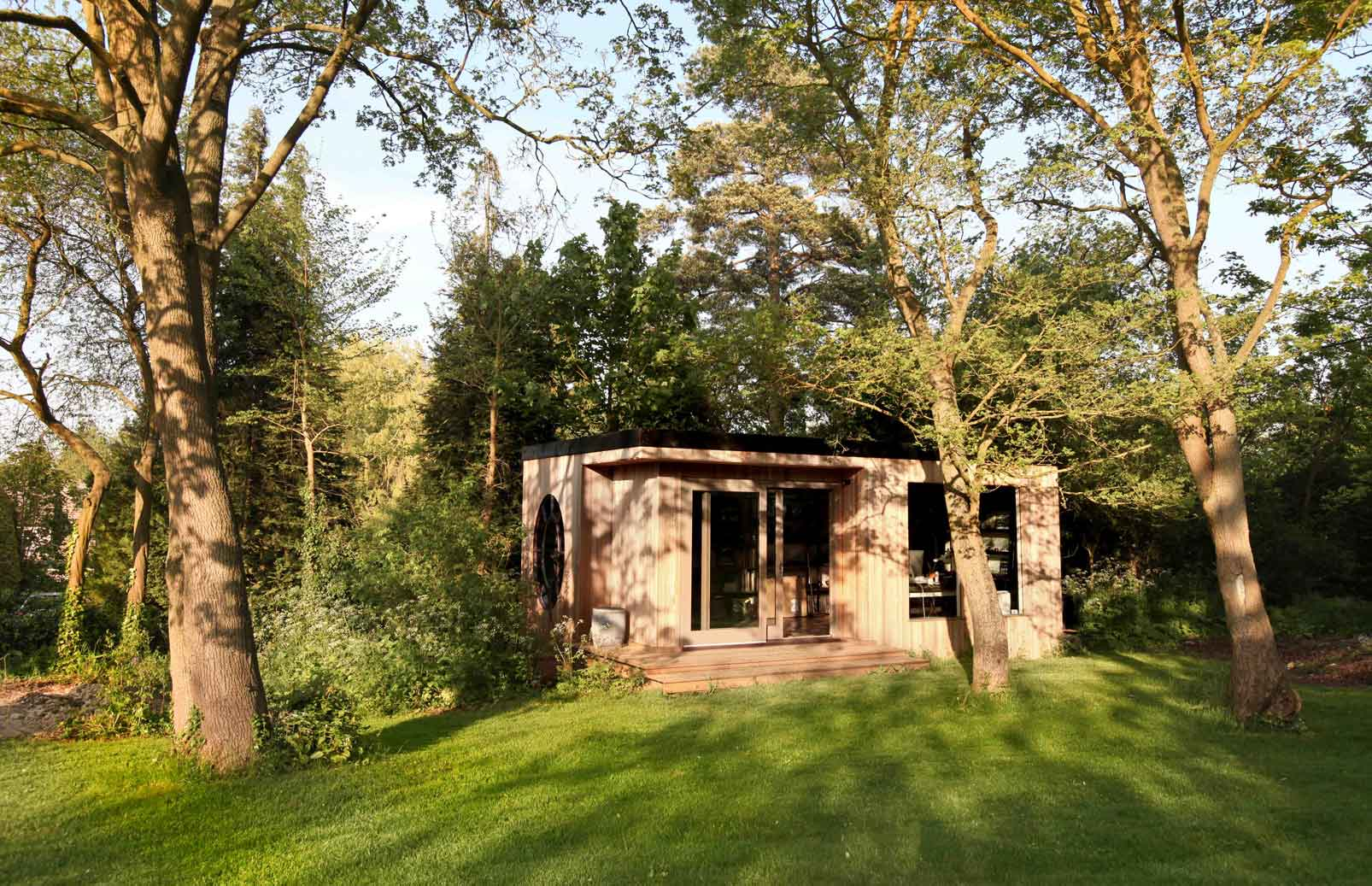 Find a builder who can help you build an interesting garden room