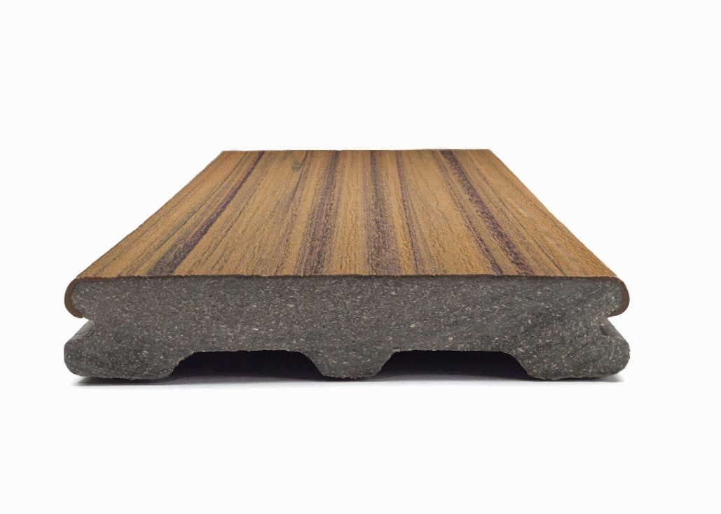 The contoured shape of the boards means less material is used in their manufacture