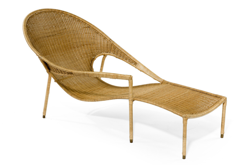 Italian rattan lounger, circa 1950, £1,950, from Christophe Edwards