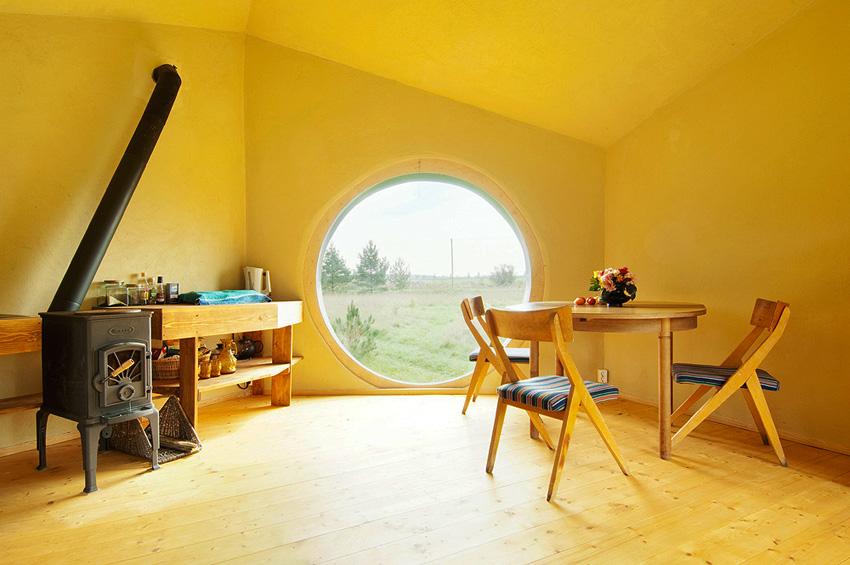 Noa hexagonal mini house by Estonian architect Jaanus Orgusaar is made from wood and the internal wa