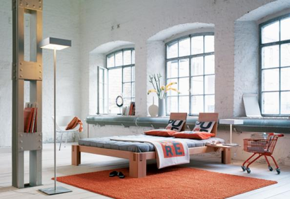 Helsinki bed from Totnes-based Green Fibres is made from European beech finished with natural oils.