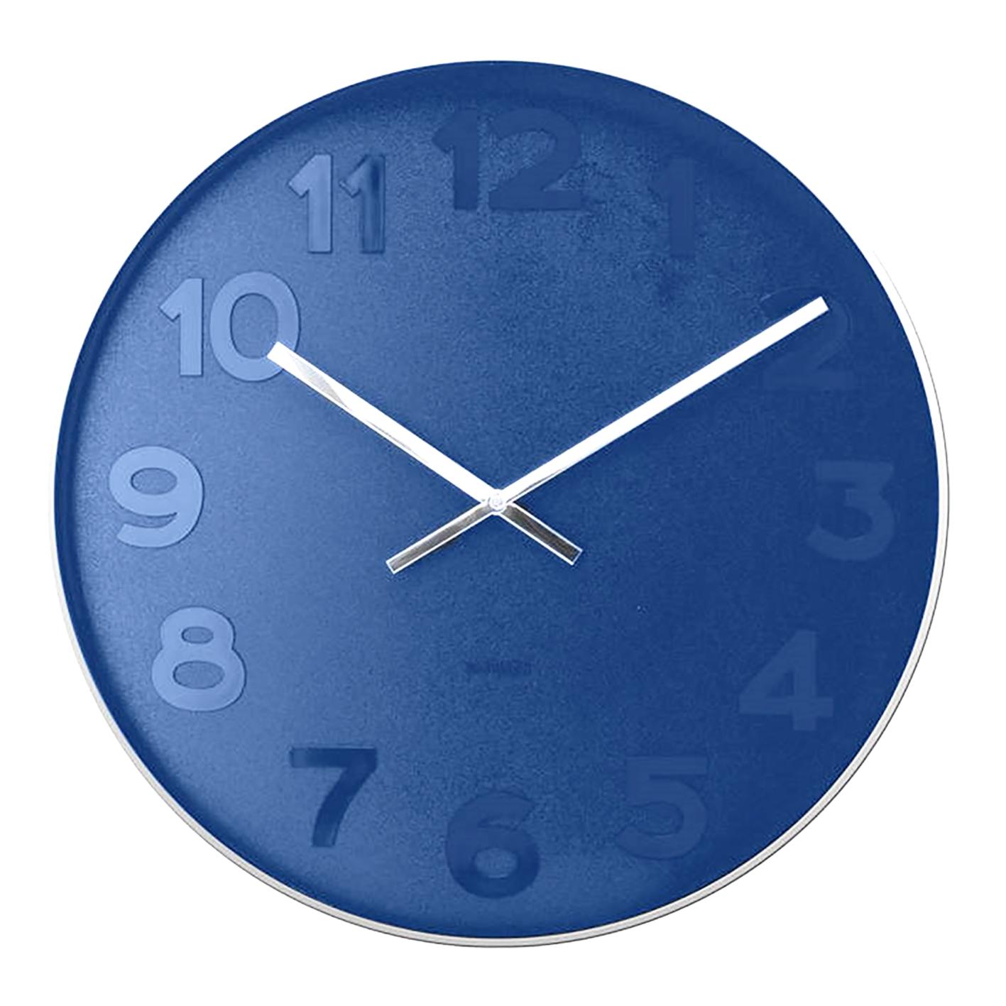 Karlsson's Mr Blue steel rim wall clock, £68.32. Find brand at Wayfair