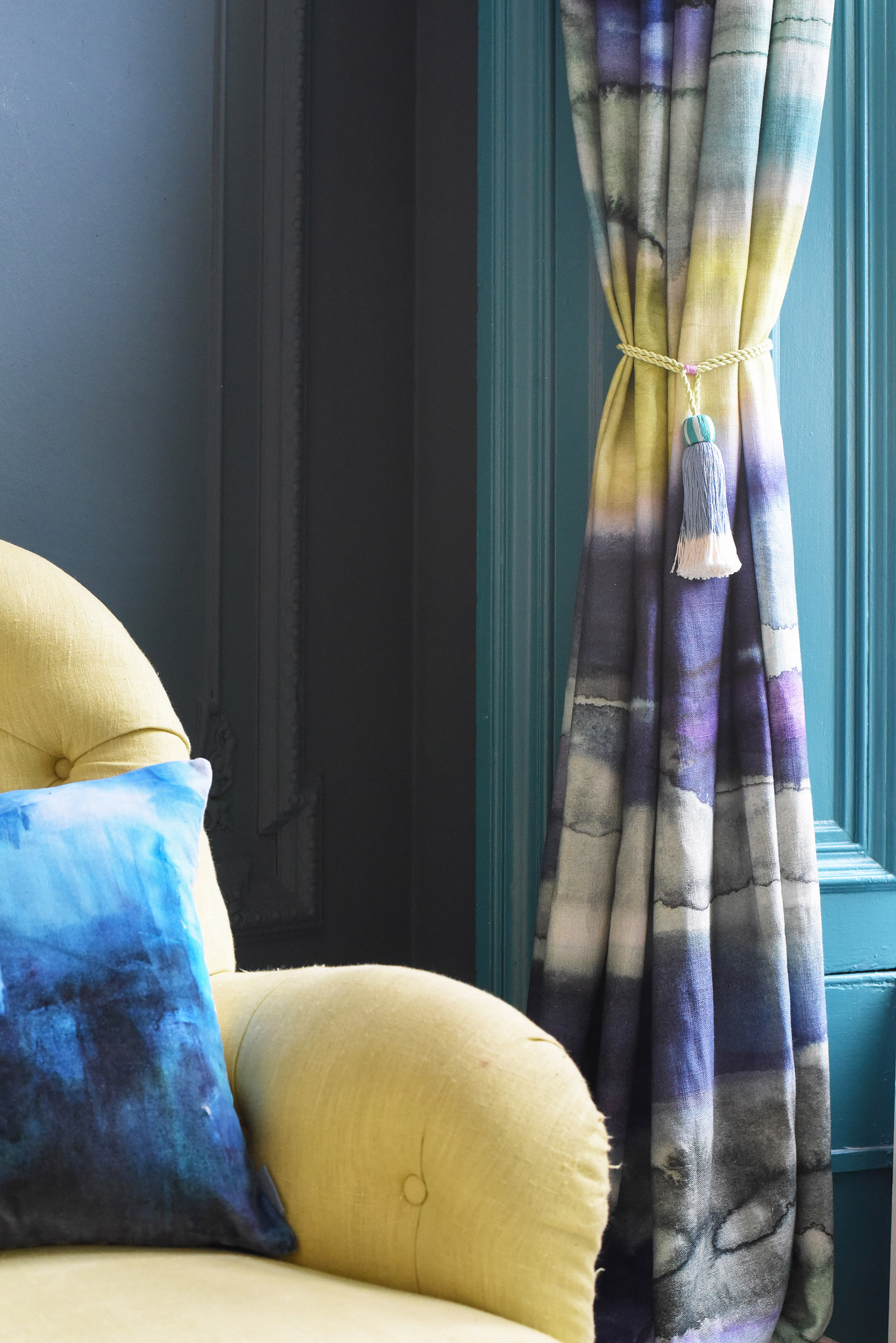 Morar linen fabric, bluebellgray