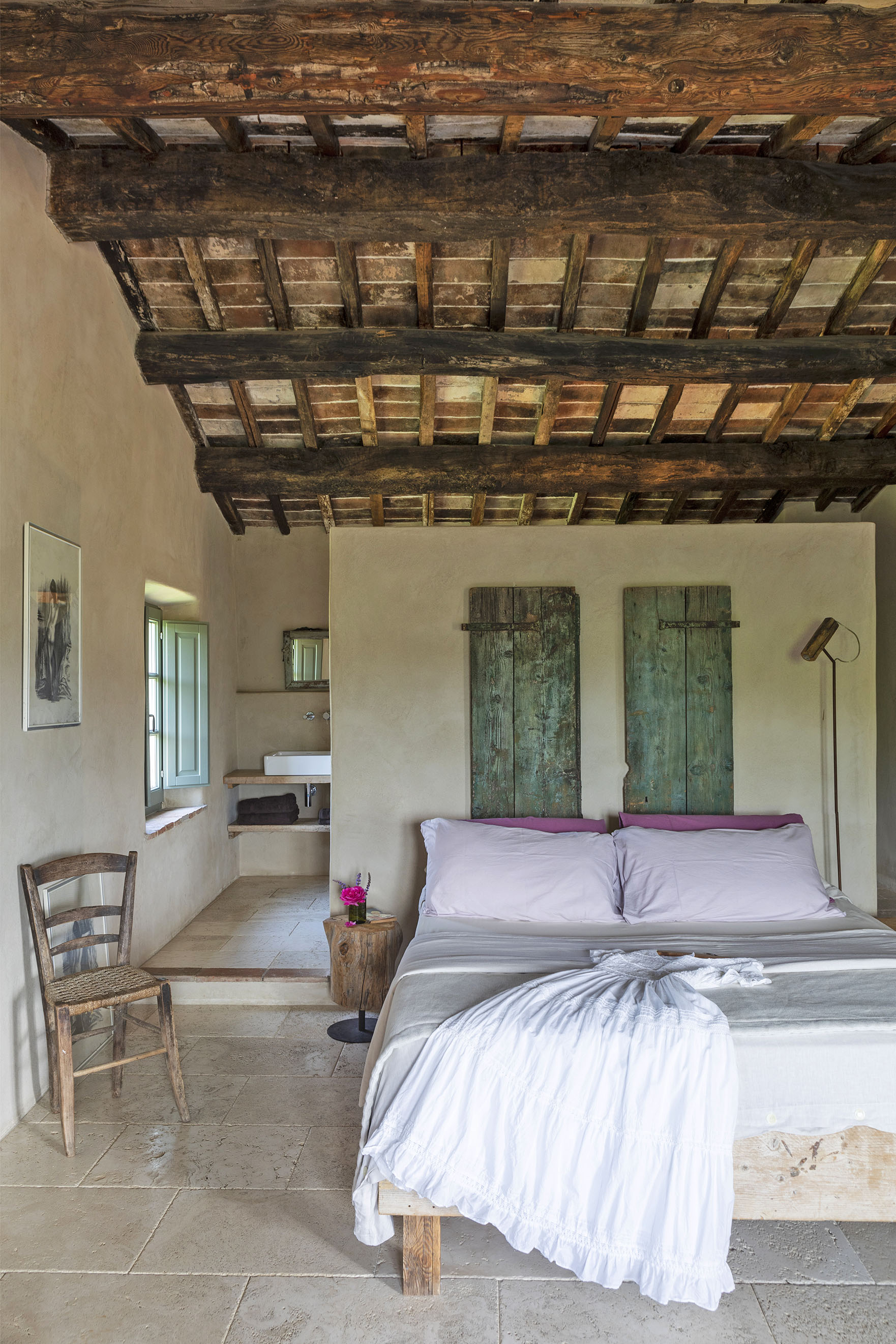 Bedrooms have a rustique elegance as the French would say