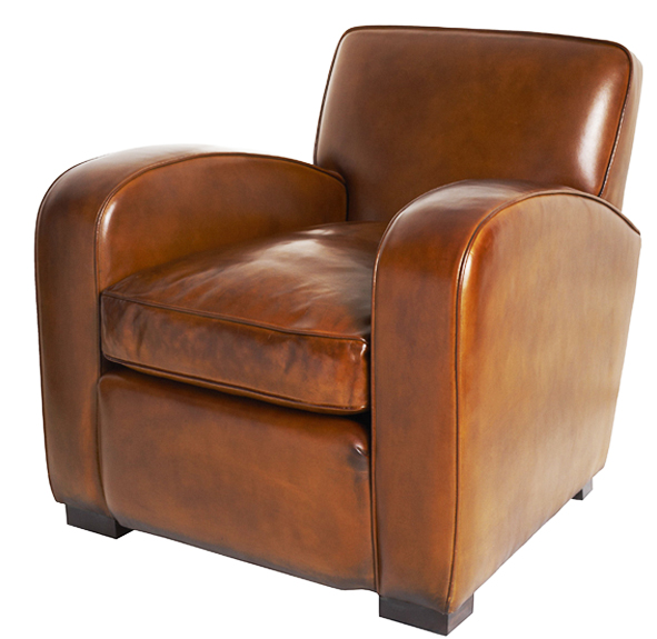 Sink into this cocooning Odeon leather chair from Leather Chairs of Bath. £1,795