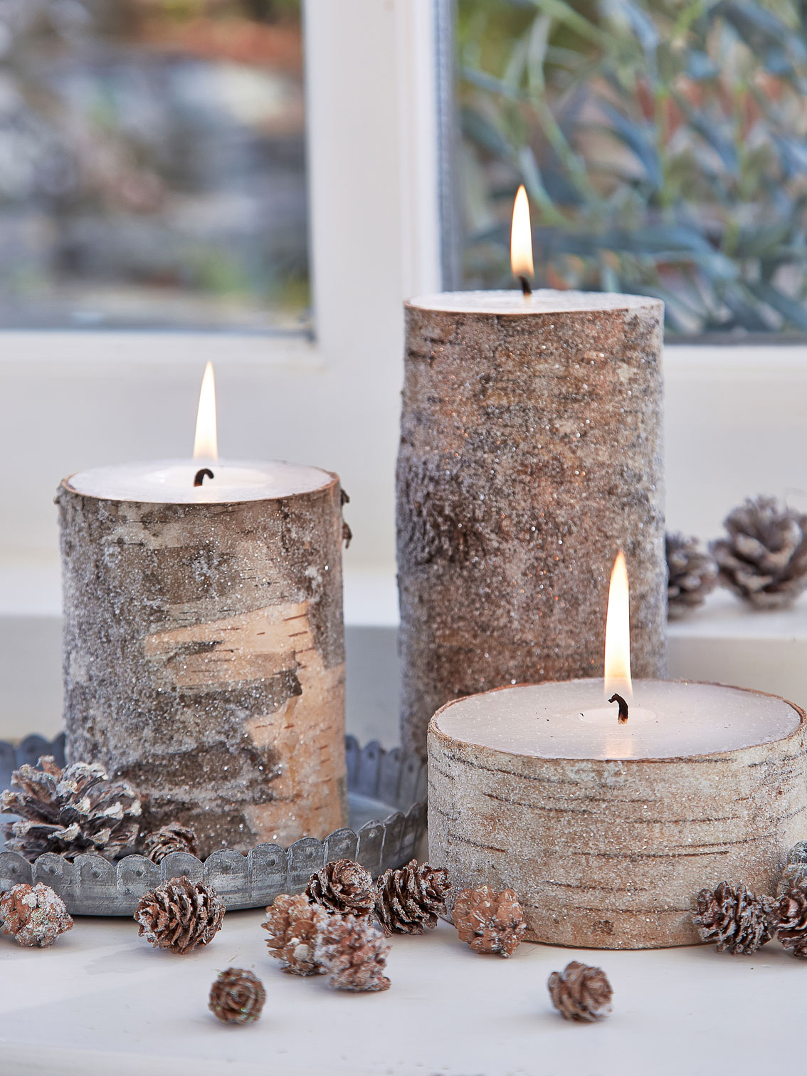 Nordic House birch wood candles, from £8,