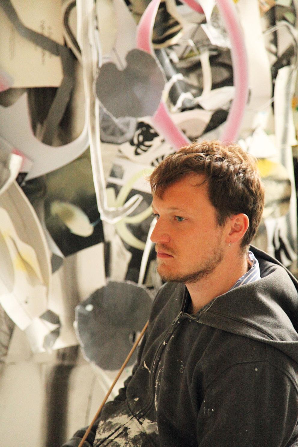 Ingram in his studio