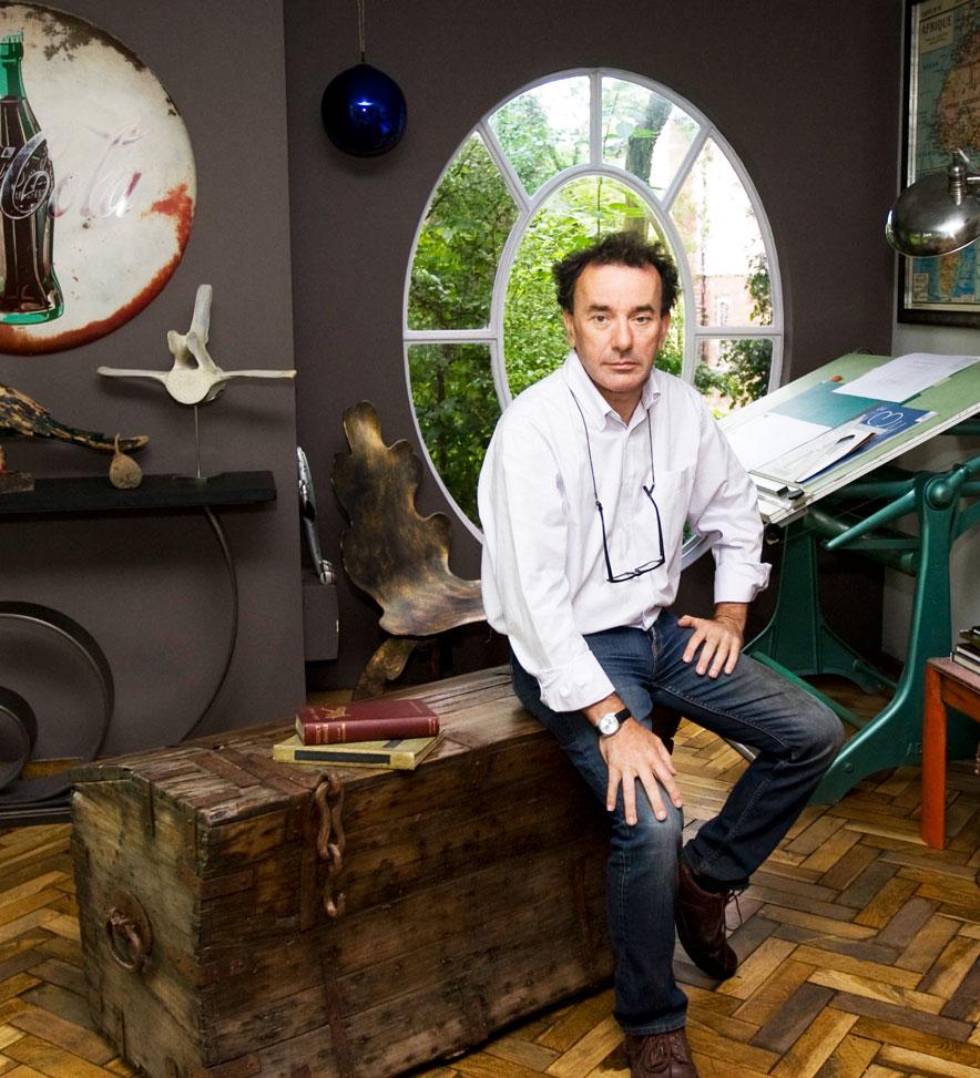 Harry in his garden office