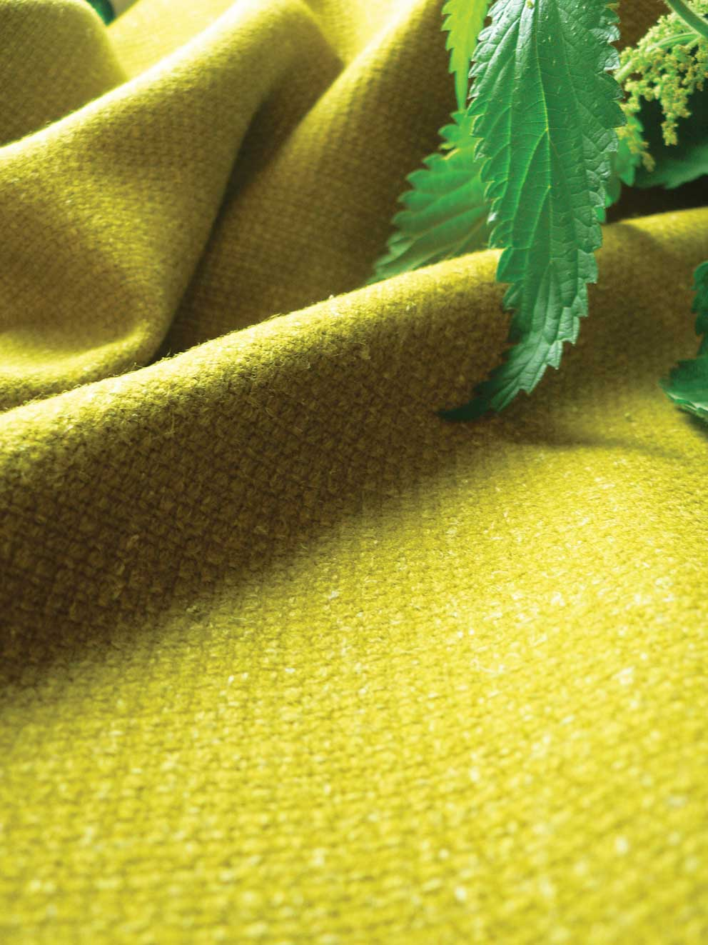 Himalayan nettle fibres are woven to make fabrics. Camira sells it in various colours. www.camirafab