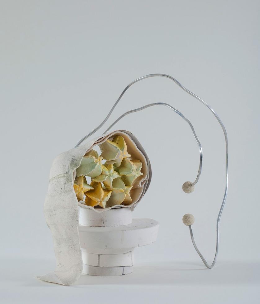 Seven stars sculpture by Bruce Ingram uses plaster remnants