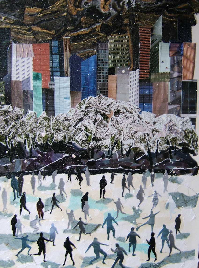 Ice Skating in Central Park by Rosalind Freeborn