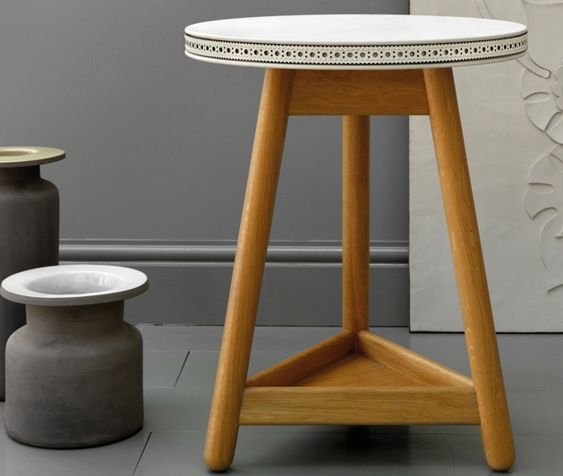 US Spinneybeck leather tops this stool from G&T, a collaboration between Bethan Gray and Thomas Turn