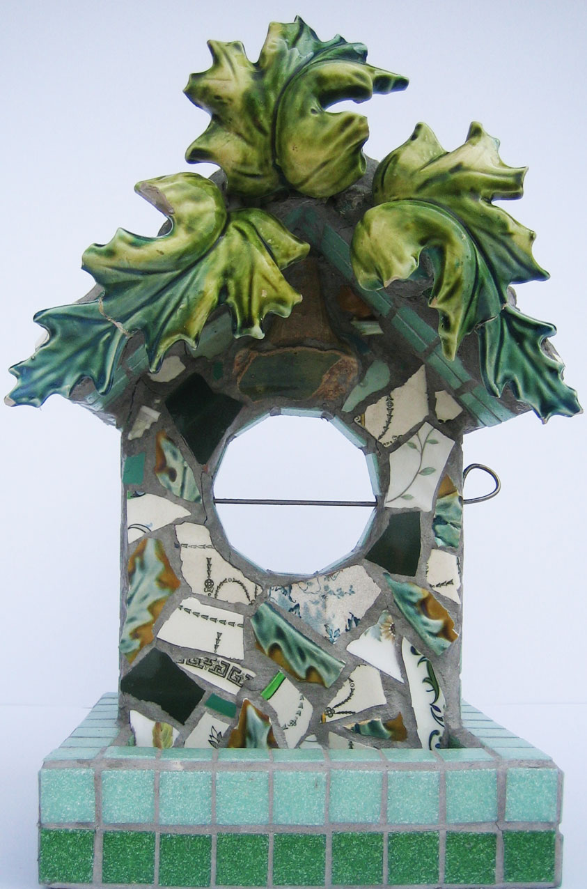 Weird but wonderful...ceramic birdfeeder by Rachel Grevatte of Emily Found A Thing