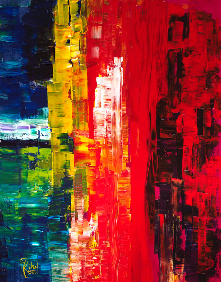 Vibrations, acrylic on canvas