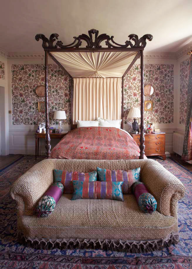 The master bedroom is grandly comfortable
