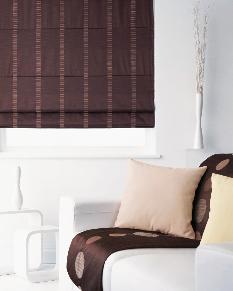 Roman blinds for bedrooms are best with blackout lining