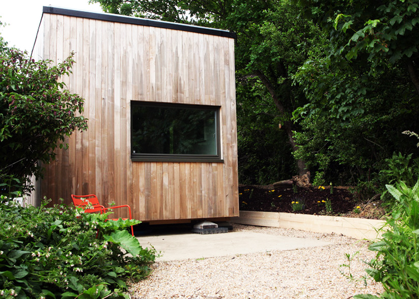 Dr Mike Page's Cube Project is a 4x3x3m home for two. www.cubeproject.org.uk