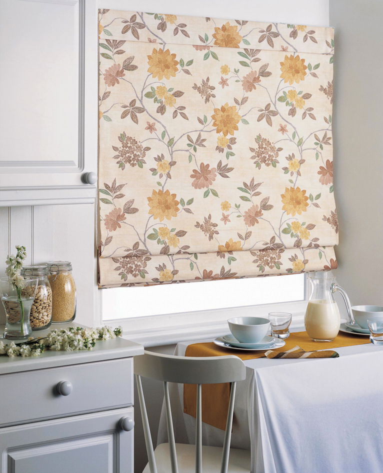 Roman blinds are great for kitchen windows