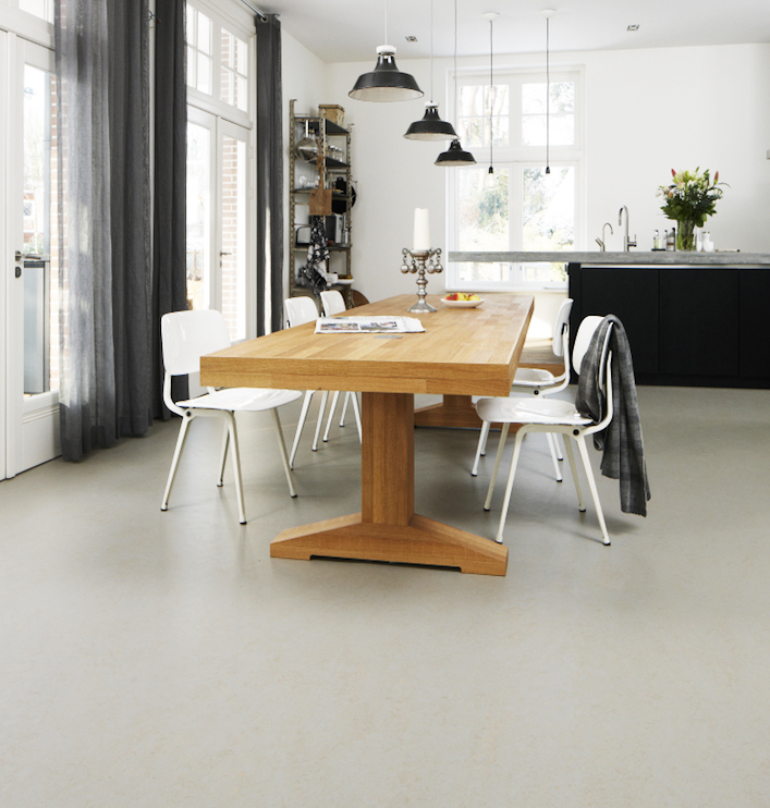 Marmoleum is a very eco flooring. Soft underfoot, hardwearing, affordable