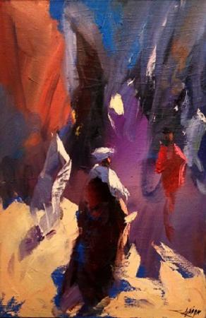 Figurative work, 40x60cms, by Said Qodaid