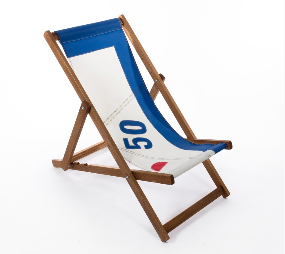 Recycled sail deckchair from Quba