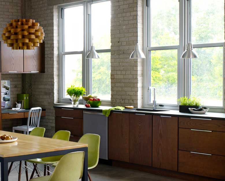 This kitchen has Richlite worktops, which are, to all extent and purposes made from paper