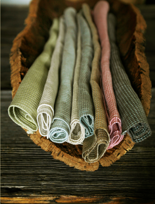 Organic linen made from flax grown in Italy, from Emily Todhunter, £105 pm. www.todhunterearle.com