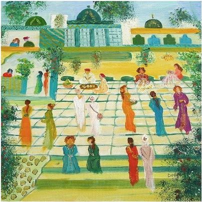 Oil on canvas by Douja Ghannam, 30x30cms