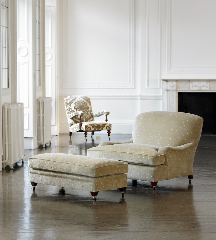 Sumptous one and a half person Rosetti chair, made in UK by The Odd Chair Company, from £2,400. www.