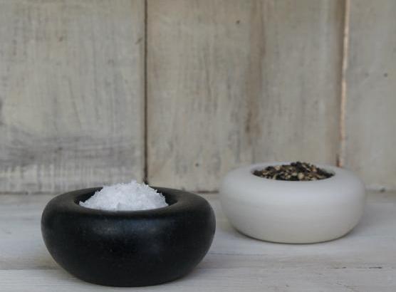 John Julian pinch pots for salt and pepper will last for decades