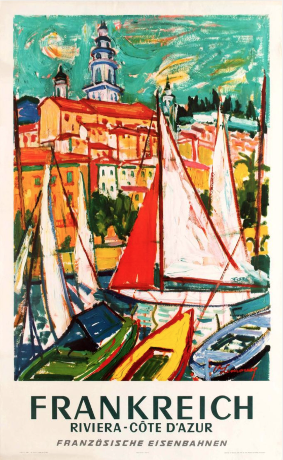 1965 Travel Poster by Roger Marcel Limouse (1894-1990) 100x62cm, from a wide range at www.antikbar.c