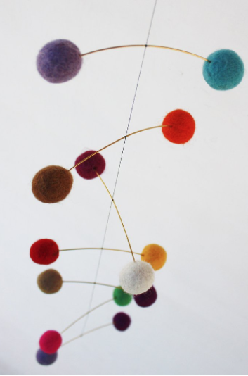 Pretty for Christmas..DNA mobile made with felt wool balls, made in Denmark. £24 from Umoya Design (